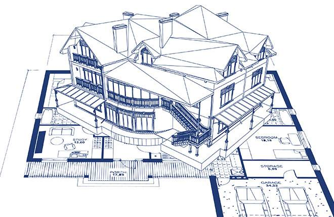 architectural design for a home rebuild after a wildfire in  Paradise, Butte County