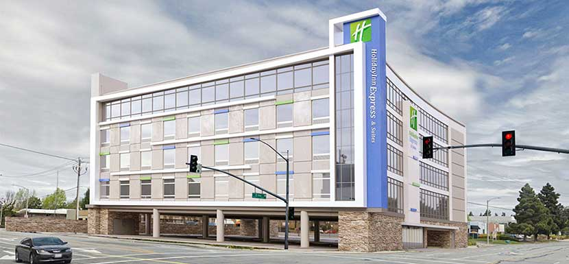 Holiday Inn Express in Sunnyvale, California. Ground-up 5-story Holiday Inn Express Hotel
