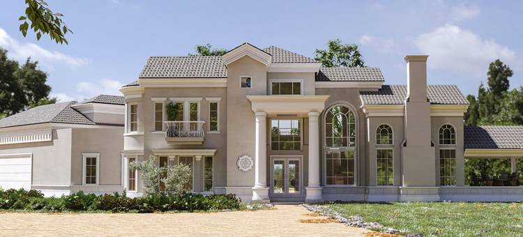Large two story custom house in San Bernardino, CA. New 4,527 sq. ft. home with a 828 sq. ft. garage with 4 bed and 3 baths including 2 guest rooms