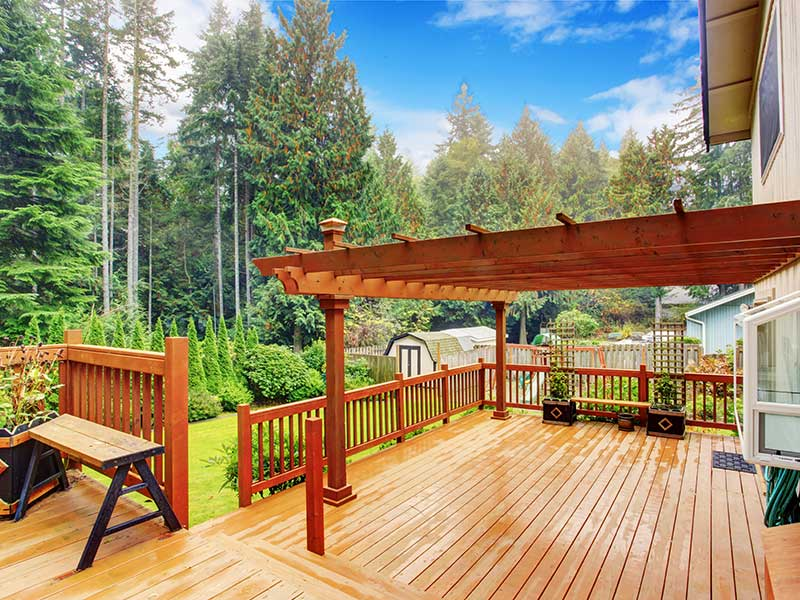 The deck is a great place to throw parties in broad daylight