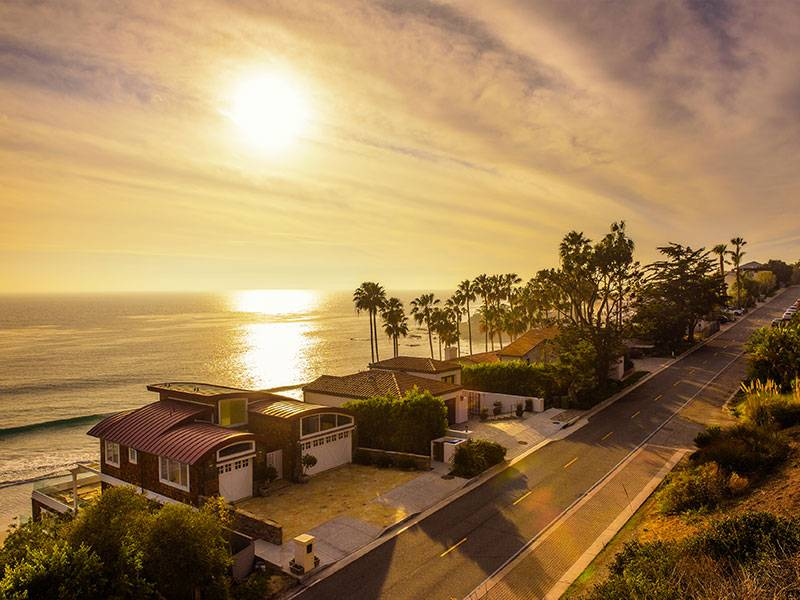 The home overlooks the beach and bright sun, and the prime location adds to its value