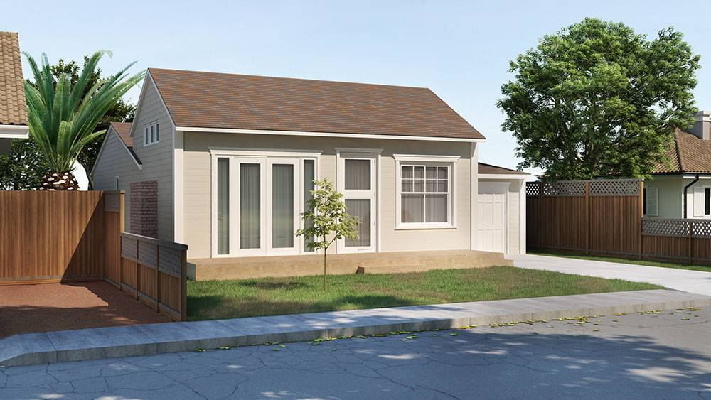 Remodeling Sketches and Designs of the living room and kitchen addition in Palo Alto