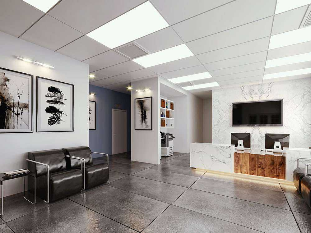 Architectural and Civil Engineering Plans and Design for a Dental Clinic Lobby