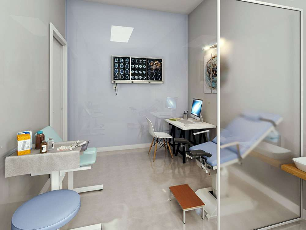 Design and Sketches of a dental clinic for tenant improvement in San Jose