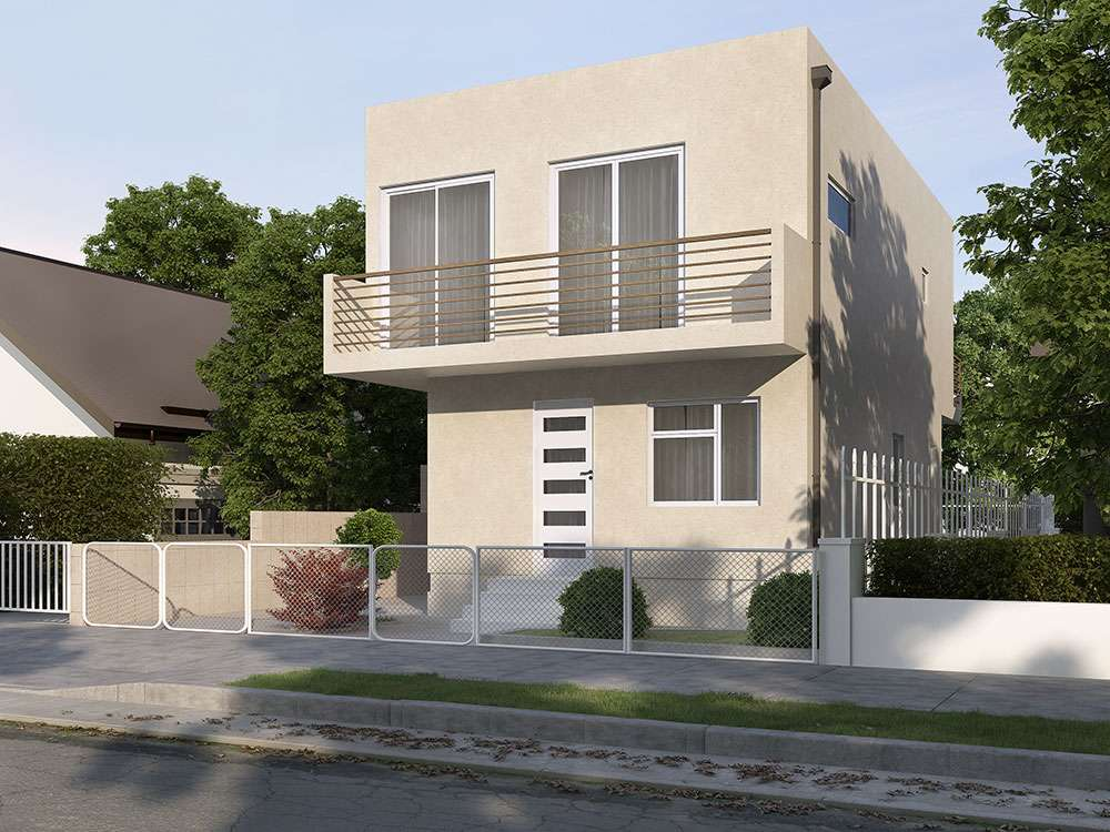 architectural designs for a Large multi-story custom home with a swimming pool