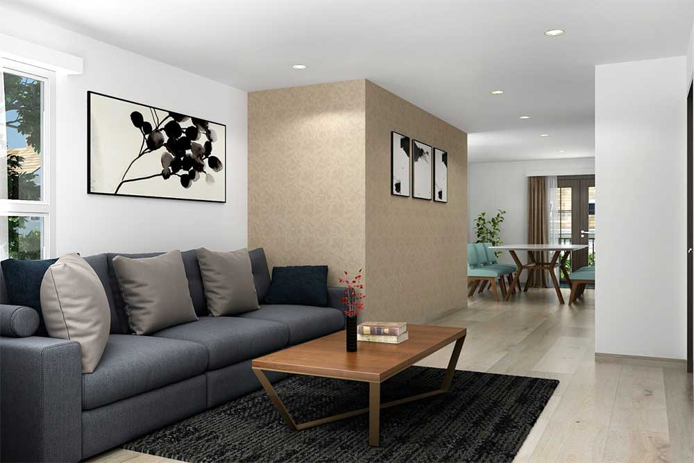 Home Architectural Plan for a living space in San Jose