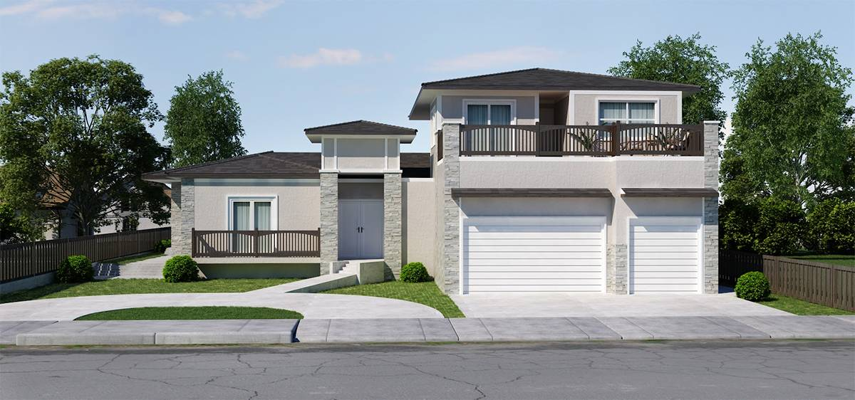 home addition architecture and engineering plans for single story home project in San Jose